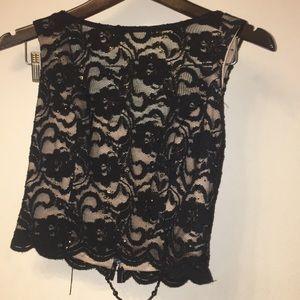 Tops - Dress crop top